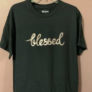 """BLESSED"" HANDMADE T-SHIRT"